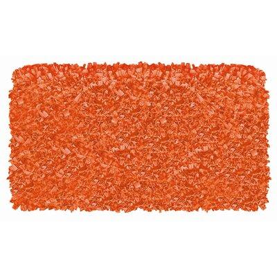 Hand-Woven Orange Area Rug Rug Size: 47 x 77