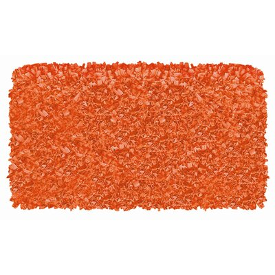 Hand-Woven Orange Area Rug Rug Size: 28 x 48