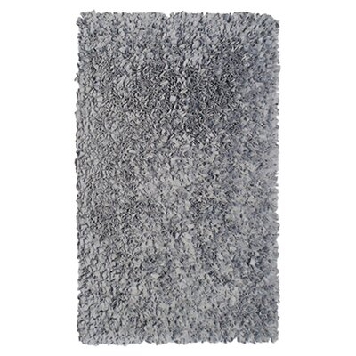 Hand-Woven Silver Area Rug Rug Size: Round 4