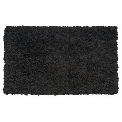 Hand-Woven Black Area Rug Rug Size: Rectangle 28 x 48