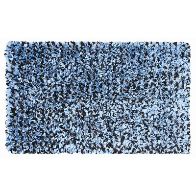 Hand-Woven Blue/Brown Area Rug Rug Size: 47 x 77