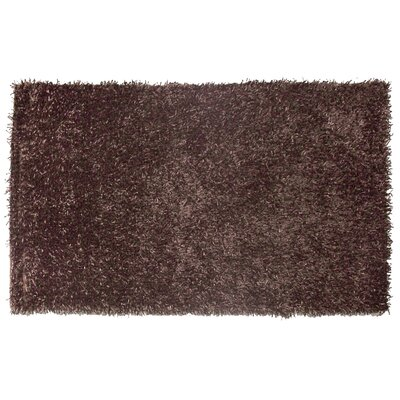 Hand-Hooked Chocolate Area Rug Rug Size: Rectangle 79 x 99