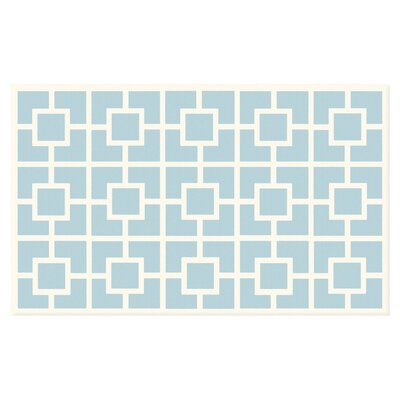 Blue/White Area Rug Rug Size: Rectangle 28 x 48