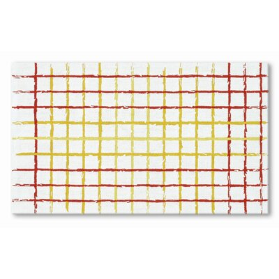Hand-Woven Red/Yelow Area Rug Rug Size: 47 x 77