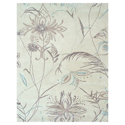 Hand-Tufted Cream Area Rug Rug Size: 5 x 8