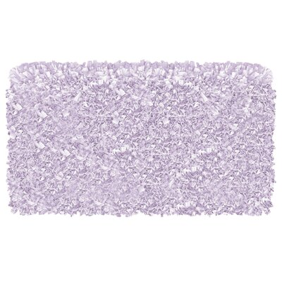 Hand-Woven Lavender Area Rug Rug Size: Rectangle 47 x 77