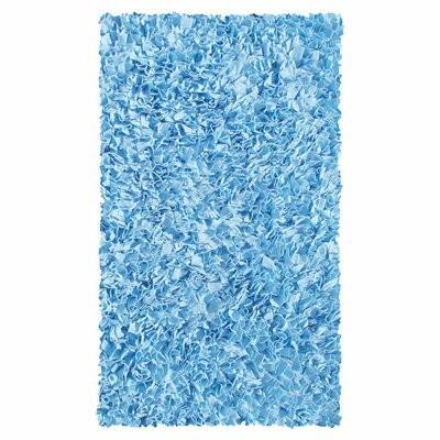Hand-Woven Blue Area Rug Rug Size: Rectangle 47 x 77