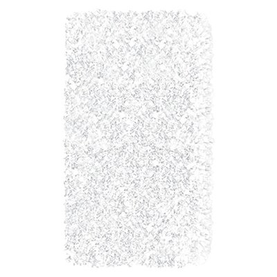 Hand-Woven White Area Rug Rug Size: Rectangle 47 x 77