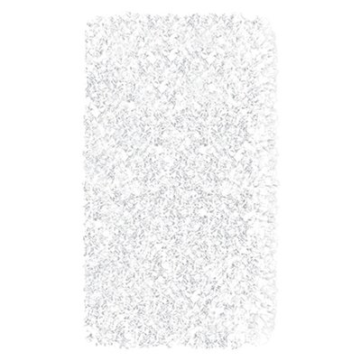 Hand-Woven White Area Rug Rug Size: Rectangle 28 x 48