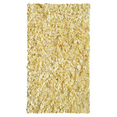 Hand-Woven Yellow Area Rug Rug Size: Rectangle 47 x 77