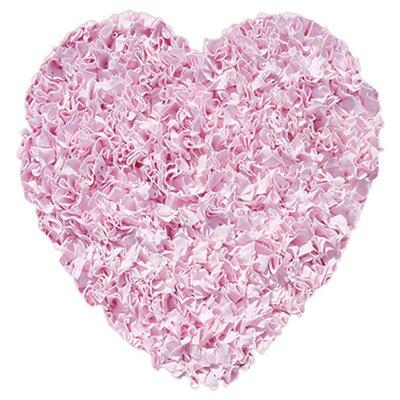 Barnett Hand-Woven Pink Area Rug Rug Size: Novelty 3' x 3'