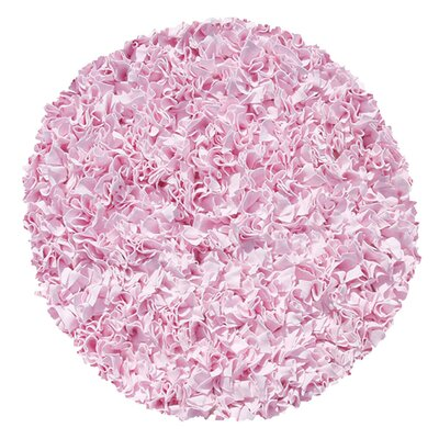 Barnett Hand-Woven Pink Area Rug Rug Size: Round 4'