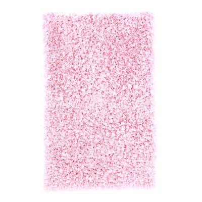 Barnett Hand-Woven Pink Area Rug Rug Size: 47 x 77