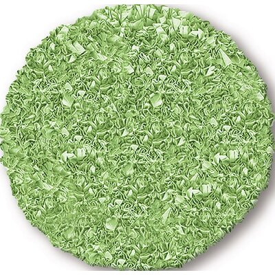 Hand-Woven Sage green Area Rug Rug Size: Round 4