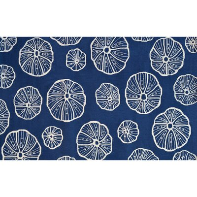 Blue/White Outdoor Area Rug Rug Size: 5 x 8