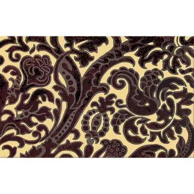 Hand-Tufted Yellow/Brown Area Rug Rug Size: 5 x 8