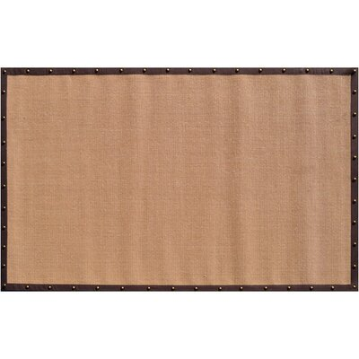Hand-Woven Tan/Brown Area Rug Rug Size: 5 x 8