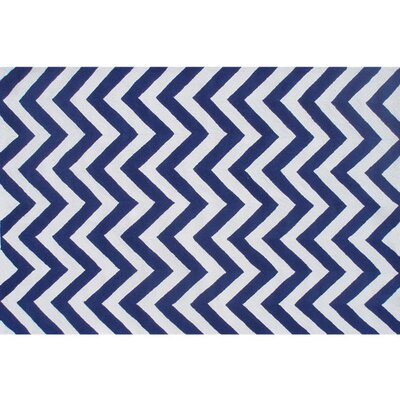 Handmade Blue Outdoor Area Rug Rug Size: 28 x 48