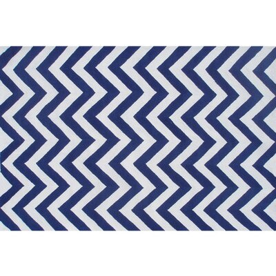 Handmade Blue Outdoor Area Rug Rug Size: 5 x 76