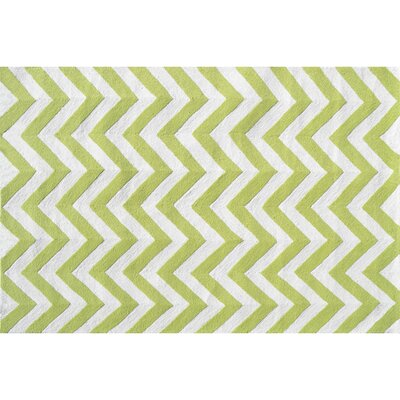 Hand-Hooked Green Outdoor Area Rug Rug Size: Rectangle 28 x 48