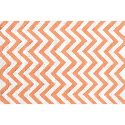 Hand-Hooked Tangerine Outdoor Area Rug Rug Size: Rectangle 76 x 96