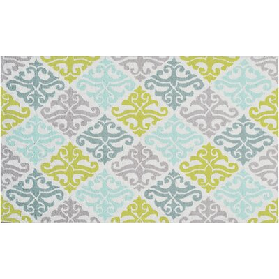 Handmade Blue/Green Area Rug Rug Size: Rectangle 47 x 77