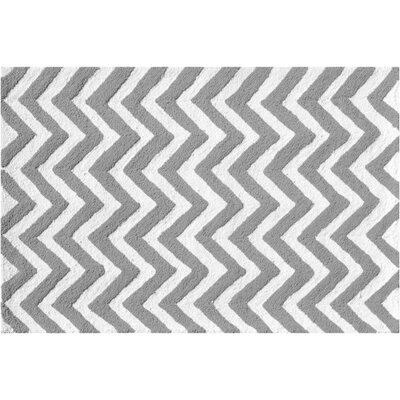 Hand-Hooked Gray Outdoor Area Rug Rug Size: Rectangle 28 x 48