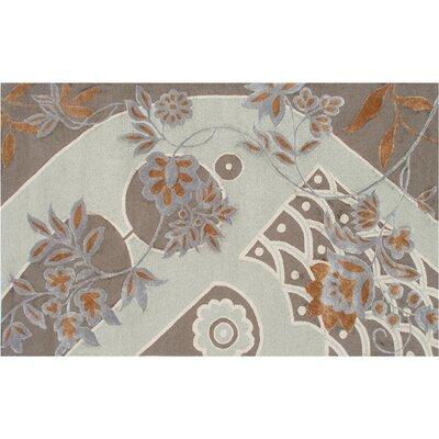 Handmade Charcoal/Beige Area Rug