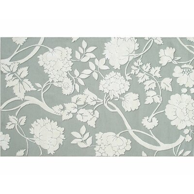 Hand-Hooked Gray Area Rug Rug Size: 10 x 13