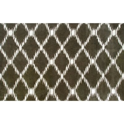 Hand-Tufted Brown Area Rug Rug Size: Rectangle 10 x 13