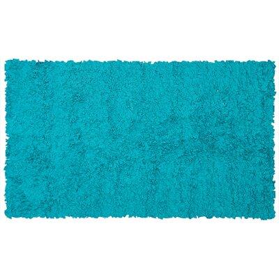 Handmade Teal Area Rug Rug Size: 110 x 210