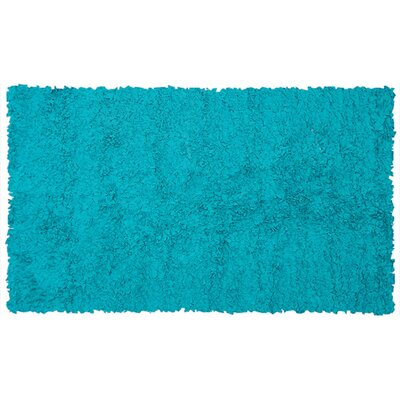Handmade Teal Area Rug Rug Size: Rectangle 47 x 77