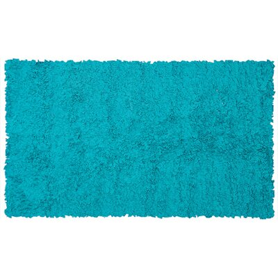 Handmade Teal Area Rug Rug Size: Rectangle 28 x 48