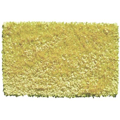 Handmade Yellow Area Rug Rug Size: Rectangle 27 x 47