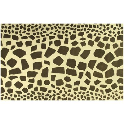 Hand-Tufted Yellow/Brown Area Rug Rug Size: 8 x 11