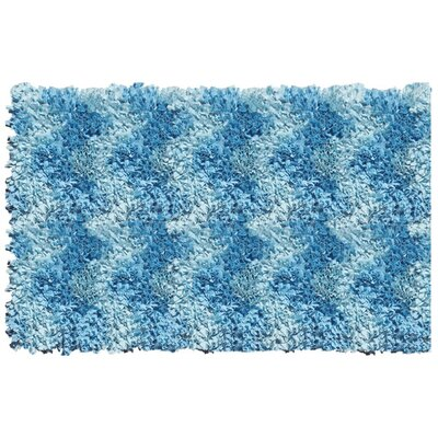 Handmade Blue Area Rug Rug Size: Rectangle 29 x 49