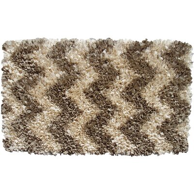 Handmade Brown Area Rug Rug Size: 47 x 77