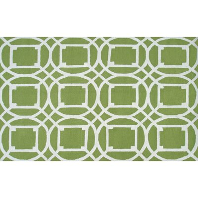 Handmade Green Outdoor Area Rug Rug Size: 5 x 76