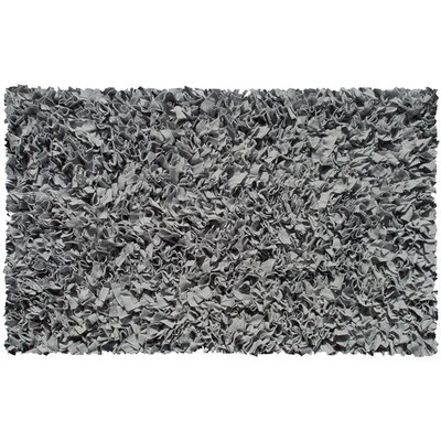 Handmade Grey Area Rug Rug Size: Rectangle 28 x 48