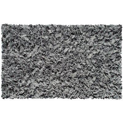 Handmade Grey Area Rug Rug Size: 28 x 48