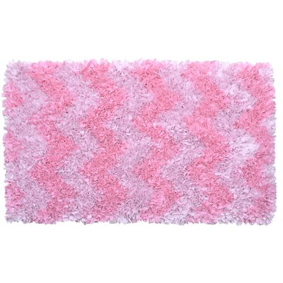 Pink Area Rug Rug Size: Rectangle 27 x 47
