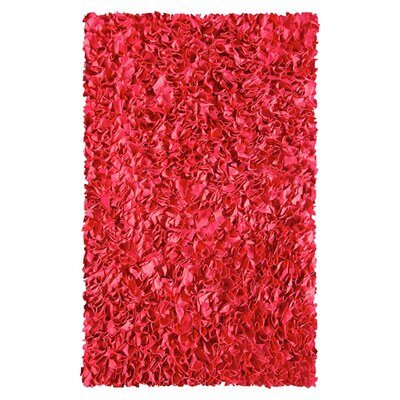 Hand-Woven Red Area Rug Rug Size: Rectangle 47 x 77