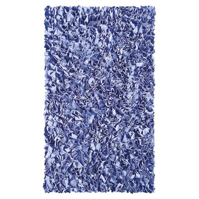 Hand-Woven Dark Blue Area Rug Rug Size: 28 x 48