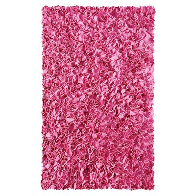 Hand-Woven Bubble Gum Area Rug Rug Size: 110 x 210
