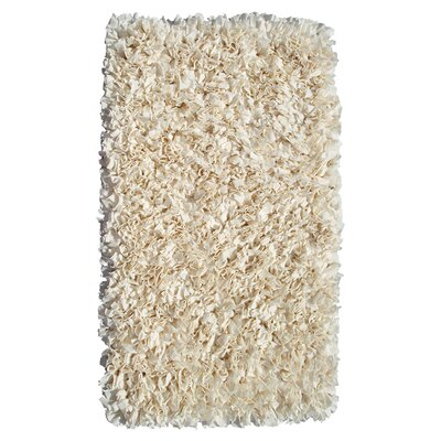 Hand-Woven Cream Area Rug Rug Size: Rectangle 47 x 77