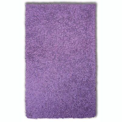 Hand-Woven Purple Area Rug Rug Size: Rectangle 47 x 77