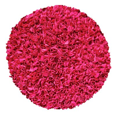 Hand-Woven Raspberry Area Rug Rug Size: Round 4