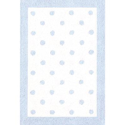 Blue/White Kids Rug Rug Size: 28 x 48