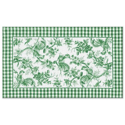 Hand-Woven Green Novelty Rug Rug Size: 76 x 96