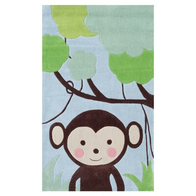 Blue/Brown Kids Rug Rug Size: 47 x 77